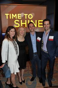 Heather Lieberman, C'94, President Gutmann, Matt Rosler, C'96, and Todd Lieberman, C'95.