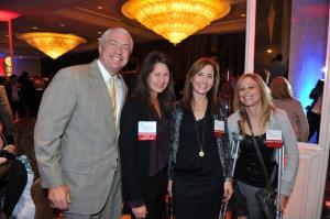 Host Committee members Peter Shoemaker, C'86, Nancy Bergmann, C'89, Beth Kean, ENG'89, and Denise Winner, W'83.
