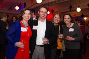 Former alumni relations colleague Jason Horger, C'91, came with his colleague from St. Mary's College, and Belinda Buscher, C'92, co-president of the Penn Club of Seattle.