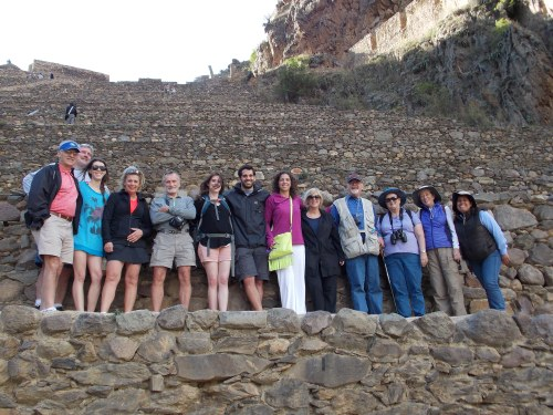 The Penn group at Ollantaytambo.