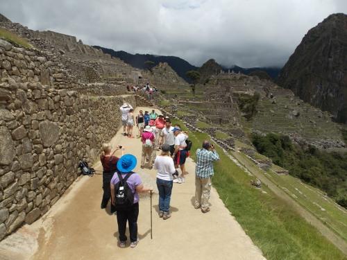 Hiking Machu Picchu.