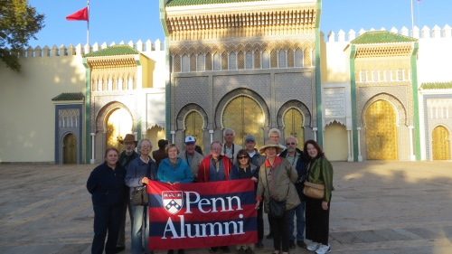 A final group shot at the Royal Palace in Fez. Photo from Susan Croll, CW'68, G'94 and Paul Monasevitch.