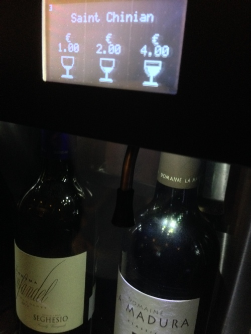 "An example of a wine ""on tap"""
