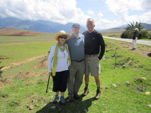 Larry Silver with alumni travelers in Peru.