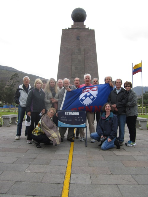 Penn alumni and friends at the equator.