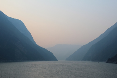 Unbelievably beautiful gorges on the Yangtze River.