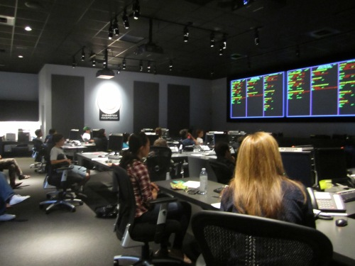 Penn Alumni learn about Red Cross in LA's coveted Central Command Room.
