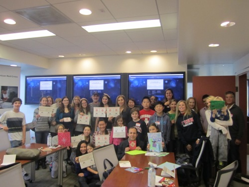 Penn Alumni, Parents and children enjoyed sharing holiday uplifting messages for our troops.