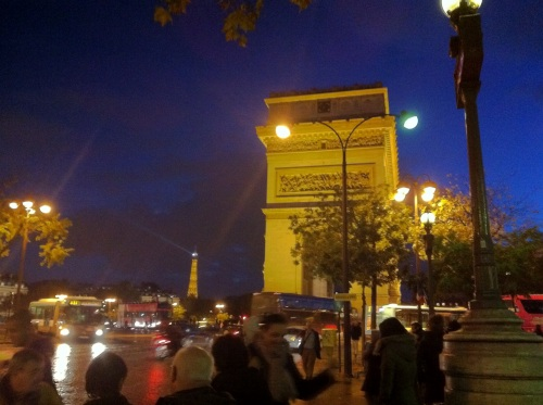 The site, en route to the hotel, The Arc de Triomphe and the Tour Eiffel