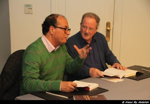 Roger Allen and Hassan Najmi conduct a joint reading of Gertrude.