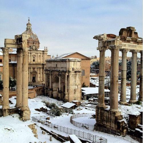 SaveRome Rome in Snow