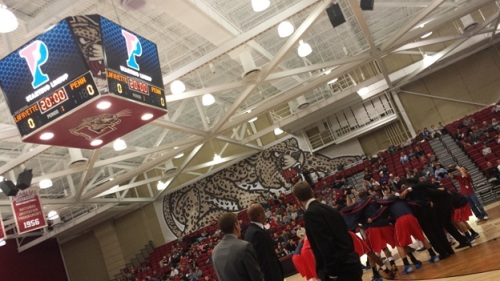 Penn Men's Basketball pre-game routine at Lafayette College