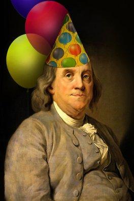 Ben Franklin birthday hat