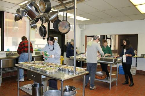 Penn alumni making 30 casseroles in under 90 minutes. Now that's a casserole blitz! More photos on Facebook.