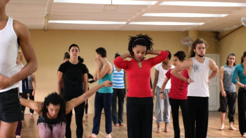 At a contemporary dance workshop in Havana
