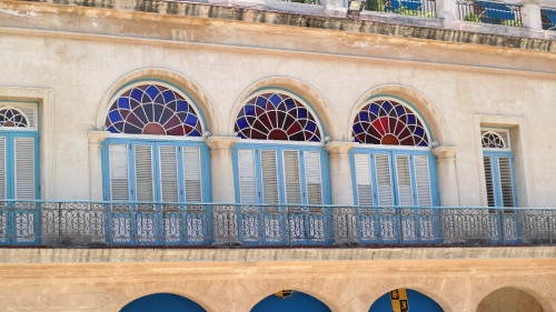 Detail of Old Havana architecture.