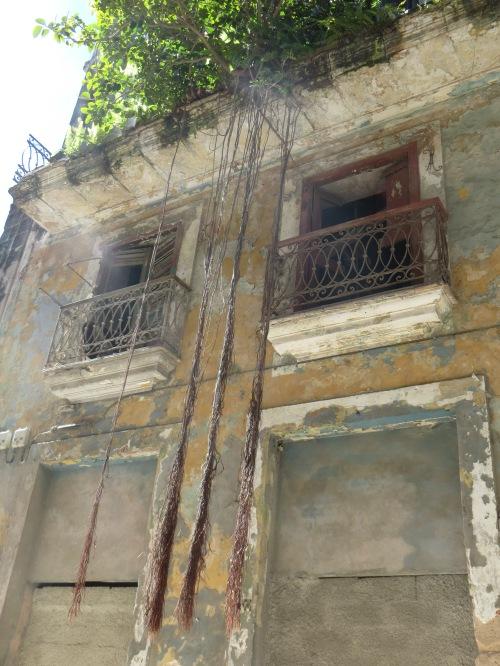 Buildings disintegrating