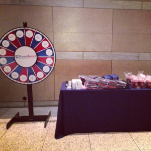 Yours truly was at the free prize wheel at the Constitution Center.