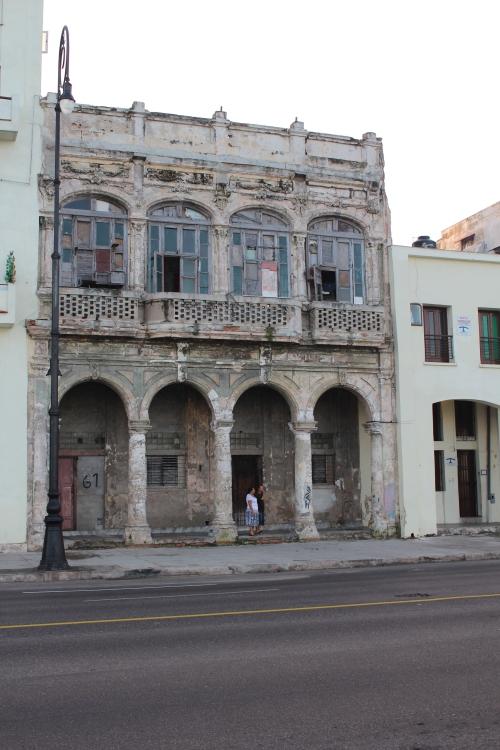 On the Malecon in Havana.