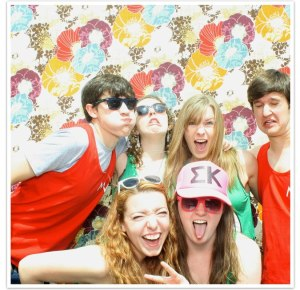 Goofing around in the Fling photo booth :)