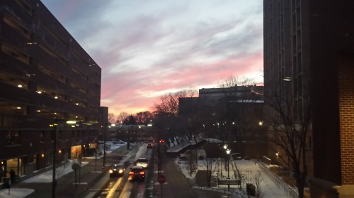 Sunset view from the Perelman School of Medicine