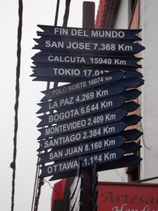 Street sign in Ushuaia, Argentina