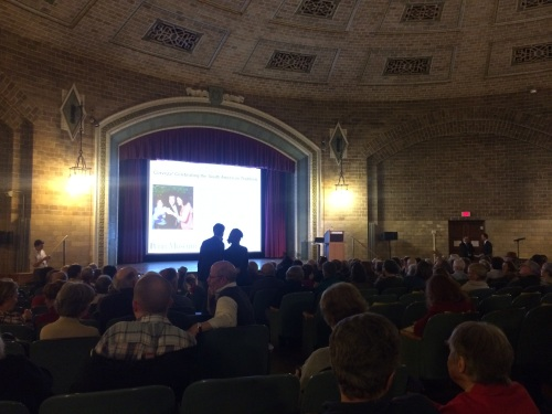 At a Penn Museum lecture earlier this winter.