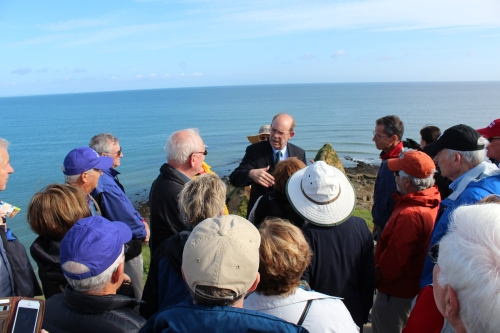 David at the Pointe du Hoc with Penn alumni and friends.