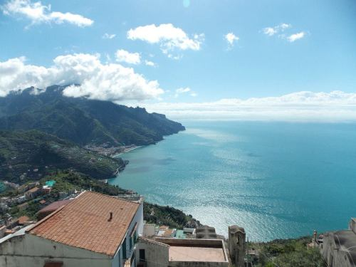 This is a view of the costiera amalfitana, the Amalfi coast, where we began our tour.