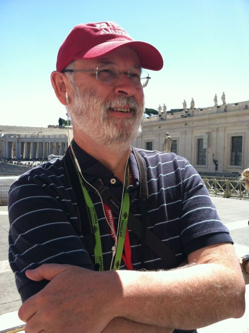 Our faculty tour leader, Professor Joe Farrell, in St. Peter's Square.