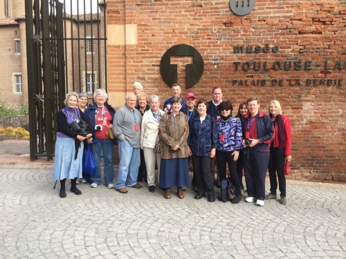 The  group poses for a pictures in Albi.