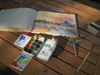 My travel watercolor kit.