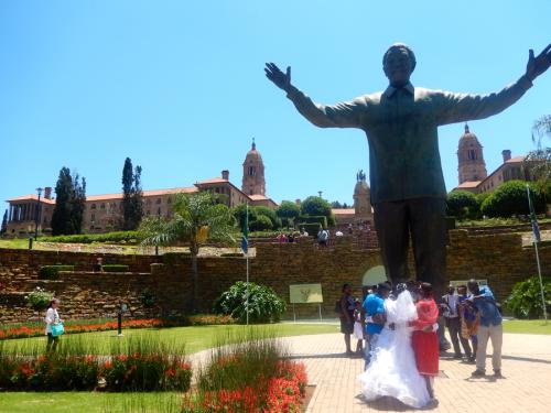 giant Mandela statue