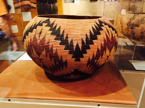 A Mono Lake Paiute basket at the Yosemite Museum