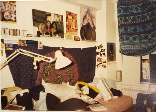 Warwick 2nd floor dorm room in the Quadrangle at the University of Pennsylvania, Fall 1989