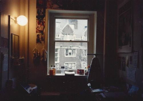 Kiera Reilly's view from her dorm room in the Upper Quad at the University of Pennsylvania