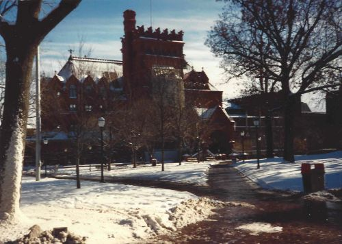 Furness Building at Penn in the snow, December, 1989