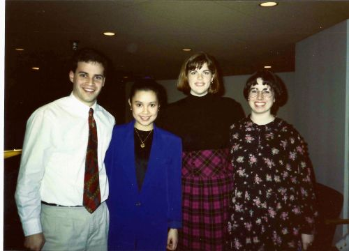 Connaissance board members at Penn with Lea Salonga, Rich Smith, Meg O'Leary and Kiera Reilly