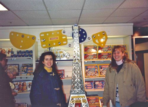 Kiera Reilly, C'93, and Deanna Hoffman, C'93, at FAO Schwartz in NYC Freshman year at Penn