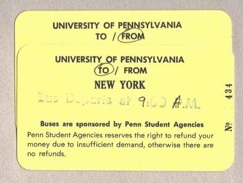 Penn Student Agencies bus tickets to New York City by Kiera Reilly