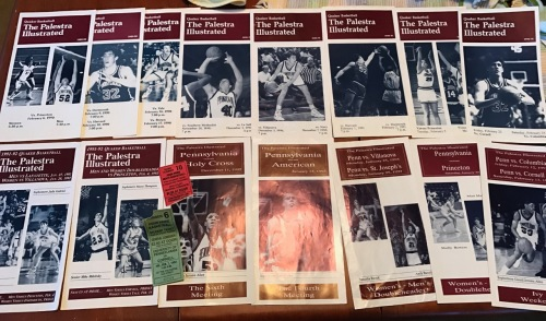 Programs from The Palestra at the University of Pennsylvania for Penn Basketball programs.