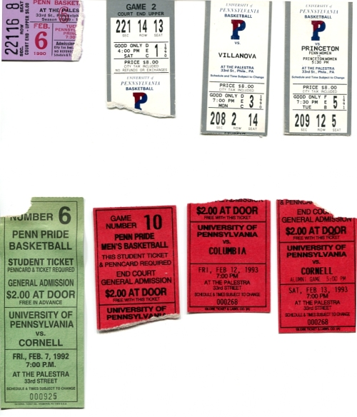 Penn basketball tickets from the Palestra at the University of Pennsylvania