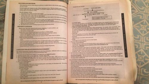 Course Registration scheduling instructions at University of Pennsylvania Spring 1990