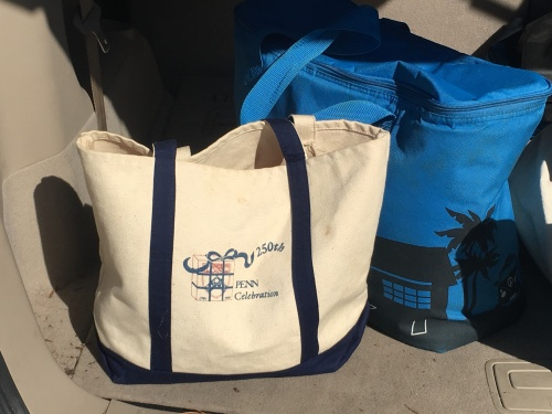 A Billion for Ben 250th Celebration bag - still in use 25+ years later! Credit: Ruth McIlhenny Gorme, C'93