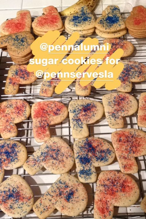 sugar cookies baked by Kiera Reilly, C'93 for Penn Serves LA New Year Social