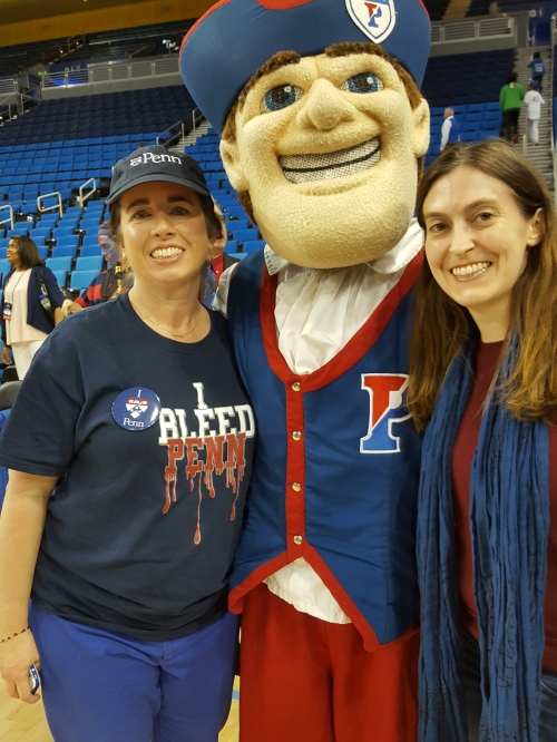 Everyone wanted a picture with the Quaker! Here I am with Penn Club LA's Aileen Level, C'99, GED'00