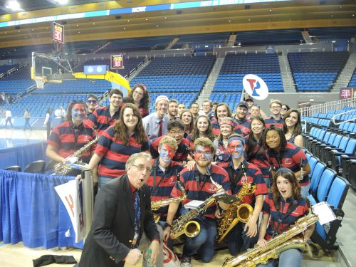 Penn Band at UCLA Pauley Pavilion during NCAA Women's Basketball Tournament