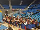 Penn Band and Cheerleaders at UCLA's Pauley Pavilion for the NCAA Women's Basketball Tournament