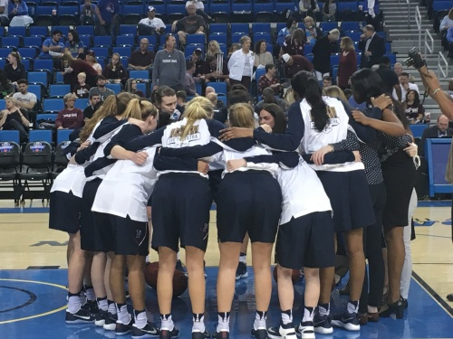 Penn Women's Basketball team at UCLA's Pauley Pavilion for round one of the NCAA tournament