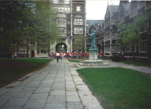 Watching as the class enters the Upper Quad and streams through to the Junior Balcony. Photo by Kiera Reilly